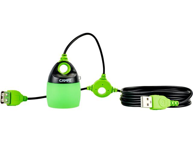 CAMPZ USB Sistema Iluminación, green/black